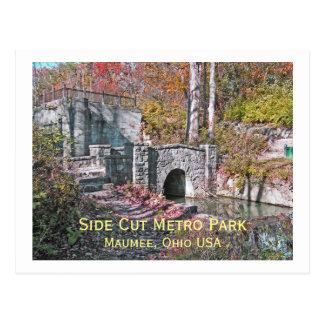"postcard, ""SIDE CUT METRO PARK/MAUMEE,OHIO USA"" Postcard"