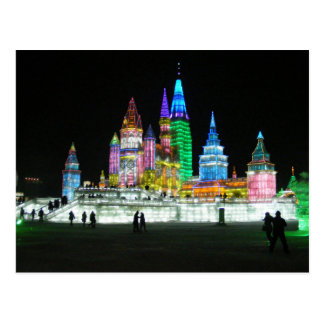 Postcard Snow and Ice World festival in Harbin