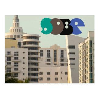 Postcard South Beach Ocean Drive View Miami, FL