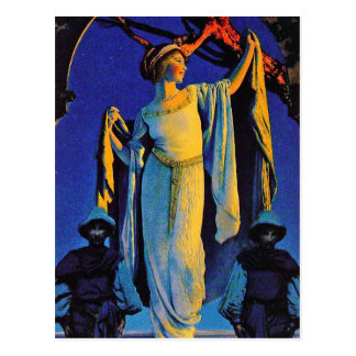 Postcard:  Spirit of the Night - Maxfield Parrish Postcard