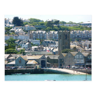 Postcard St Ives Lifeboat Station, Cornwall the