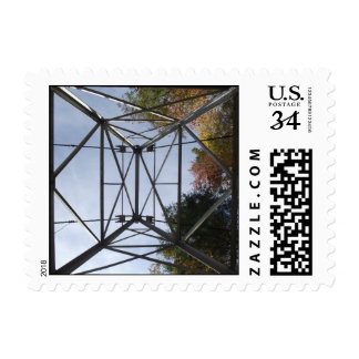 Postcard stamp of electric tower in Tennessee