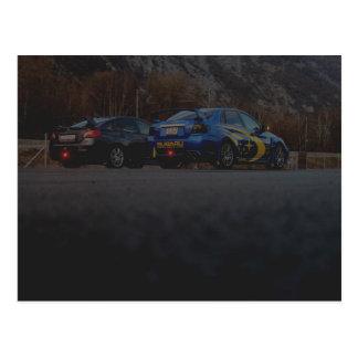 Postcard Subaru STi