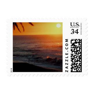 Postcard Sunrise Over Water Postage Stamp