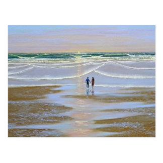 Postcard Sunset On The Beach