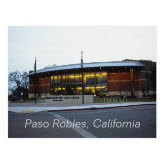 Postcard: Superior Court, Paso Robles, California