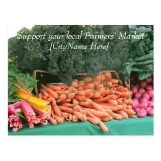Postcard - Support Farmers Market - Carrots