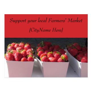 Postcard - Support Farmers Market - Strawberries