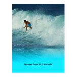Postcard Surfer Girl Snapper Rocks QLD Australia Postcard