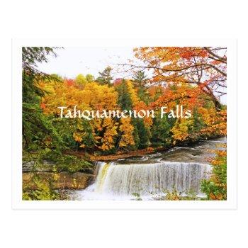 Postcard  Tahquamenon Falls /fall Color Postcard by whatawonderfulworld at Zazzle