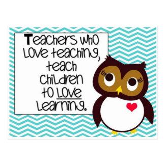 Postcard- Teacher and Owl Postcard