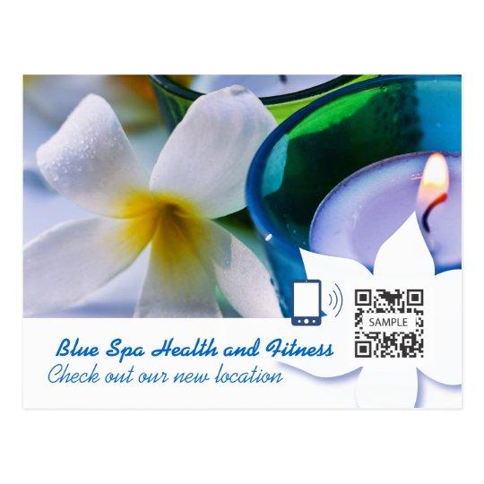 Postcard Template Blue Spa