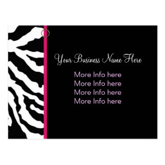 Postcard Template :: Bold Zebra Print