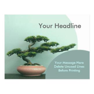 Postcard Template-Bonsai Circles