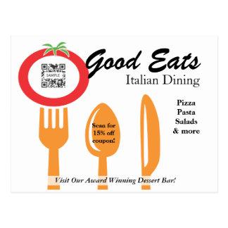 Postcard Template Casual Dining Italian