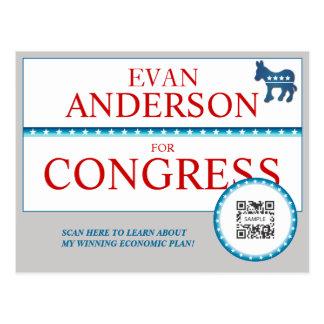 Postcard Template Democrat Donkey