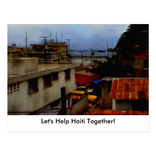 Postcard Template - Let's Help Haiti Together!