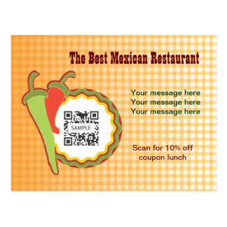 Postcard Template Mexican Restaurant