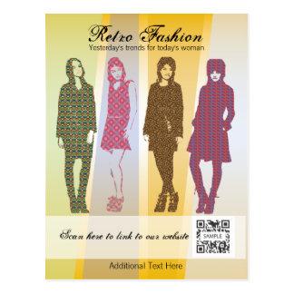 Postcard Template Retro Fashion