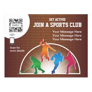 Postcard Template School Athletics