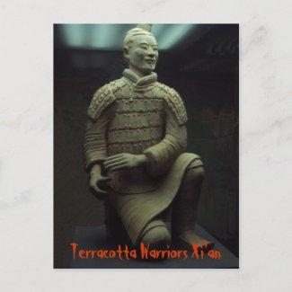 POSTCARD - Terracotta Warrior Xián China postcard