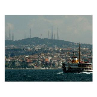 Postcard The Bosporus gold Istanbul Strait