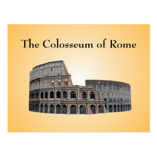Postcard: The Colosseum of Rome