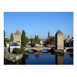 Postcard The Covered Bridges, Strasbourg, France