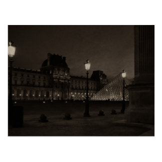 Postcard The Louvre in Black And White, Paris