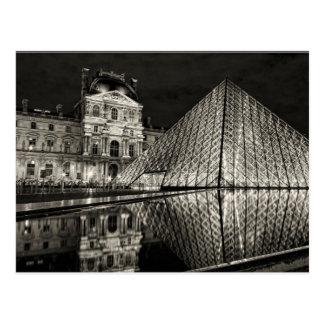 Postcard The Louvre Pyramid In Black/White Paris