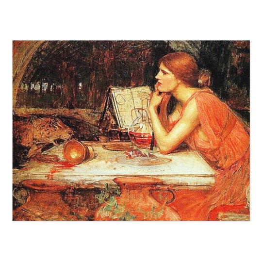 """Postcard: """"The Sorceress"""" by John Waterhouse Postcard"""