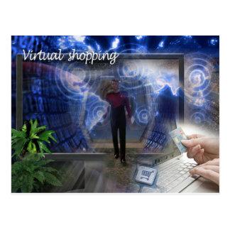 Postcard the virtual shopper