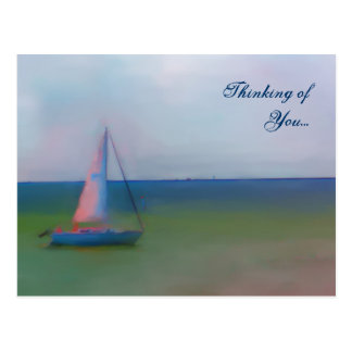 Postcard - Thinking of You (Sailing Boat Painting)