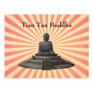 Postcard Tian Tan Buddha Big Buddha