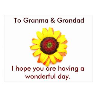 Postcard to Granma and Grandad Post Cards