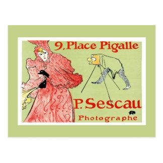 Postcard:  Toulouse-Lautrec - P.Sescau Photographe