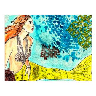 Postcard Tranquil Waters Mermaid