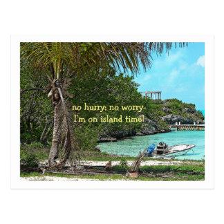 """postcard/ Turks and Caicos/ """"no  hurry, no worry.. Postcard"""