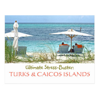 postcard, TURKS & CAICOS:  ULTIMATE STRESS-BUSTER Postcard