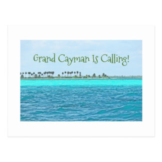 postcard/TURQUOISE WATER OF GRAND CAYMAN IS CALLIN Postcard