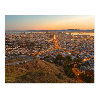 Postcard Twin Peaks, San Francisco, California