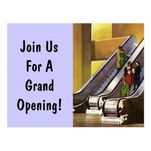 Postcard Upscale Deco Mall Escalator Business PC
