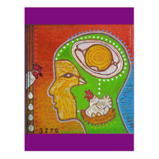 Postcard vegan No egg