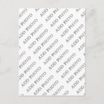 """Postcard Vertical Create Your Own<br><div class=""""desc"""">Postcard Vertical style. Add your own photo to this look. Please contact me at Sandy at admin@giftsyoutreasure.com if you would like something special just for you or questions.</div>"""