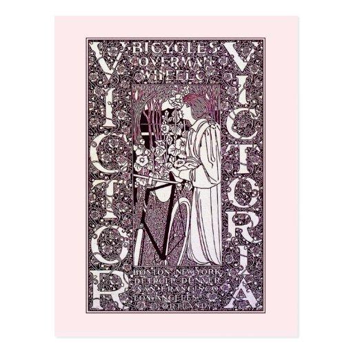 Postcard: Victor, Victoria Bicycles - Will Bradley