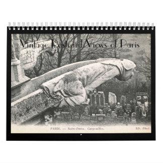 Postcard Views of Paris, France Vintage Calendar