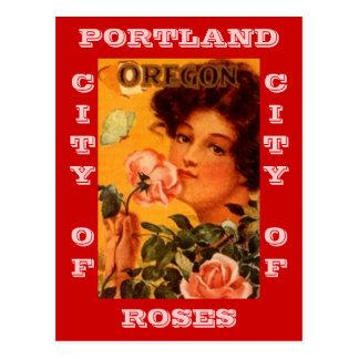 POSTCARD VINTAGE AD PORTLAND OREGON CITY OF ROSES