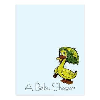 Postcard Vintage Baby Duck Shower Announcements