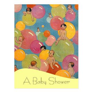 Postcard Vintage Baby Shower Announcements Balloon