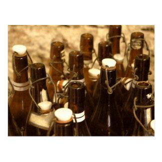Postcard - Vintage Beer Bottles Alte Bier Flaschen
